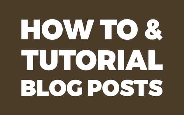 How To And Tutorial Blog Posts Background