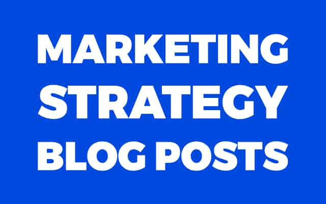 Marketing Strategy Blog Posts Background
